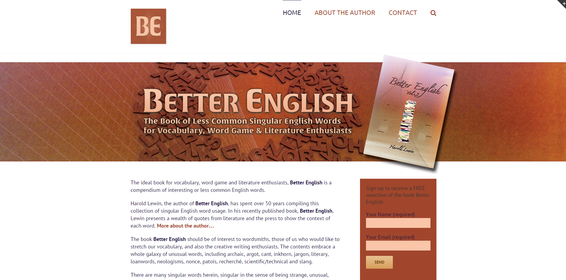 Better English Book site design - image