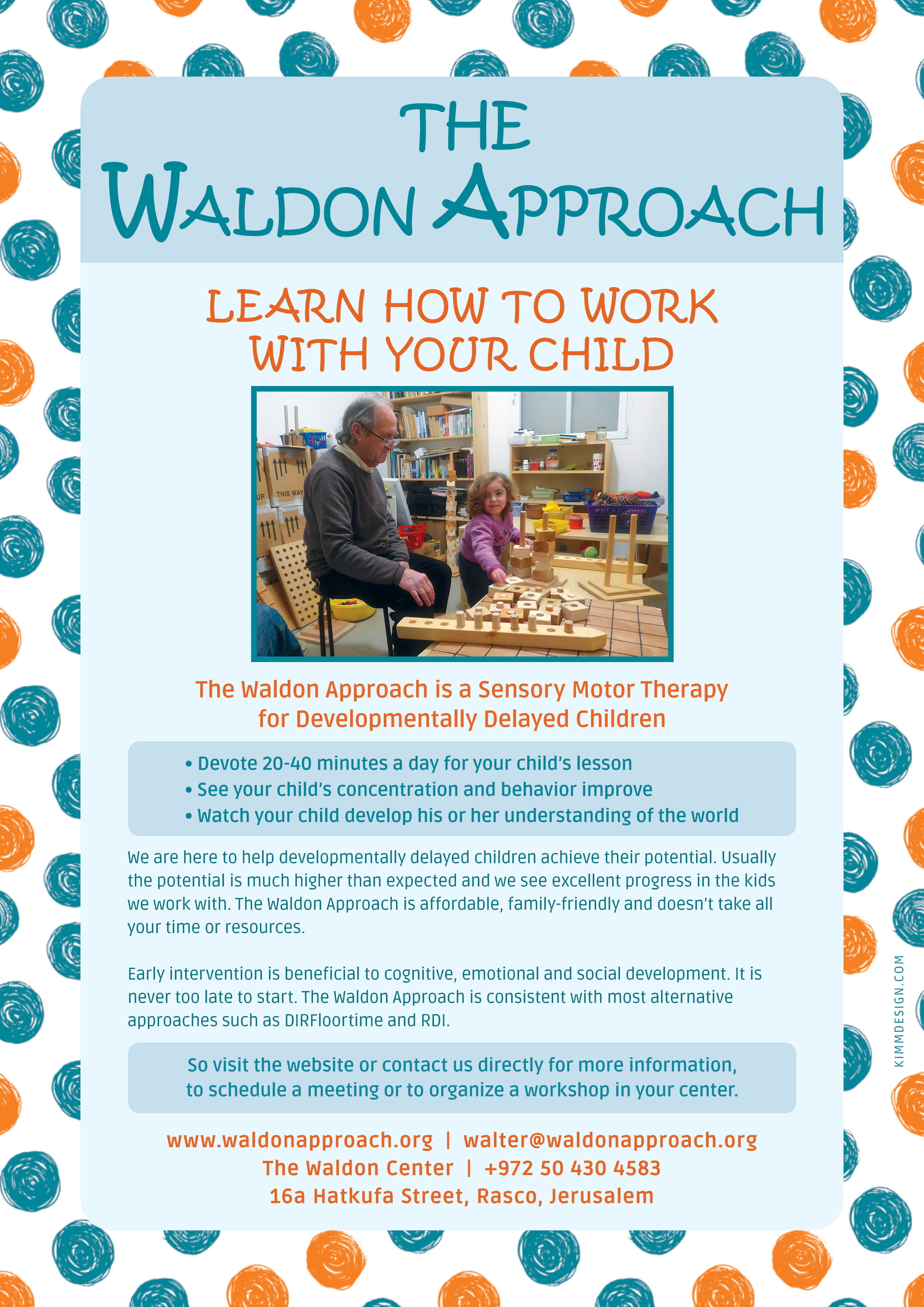 Jerusalem Waldon Center - Flier - English