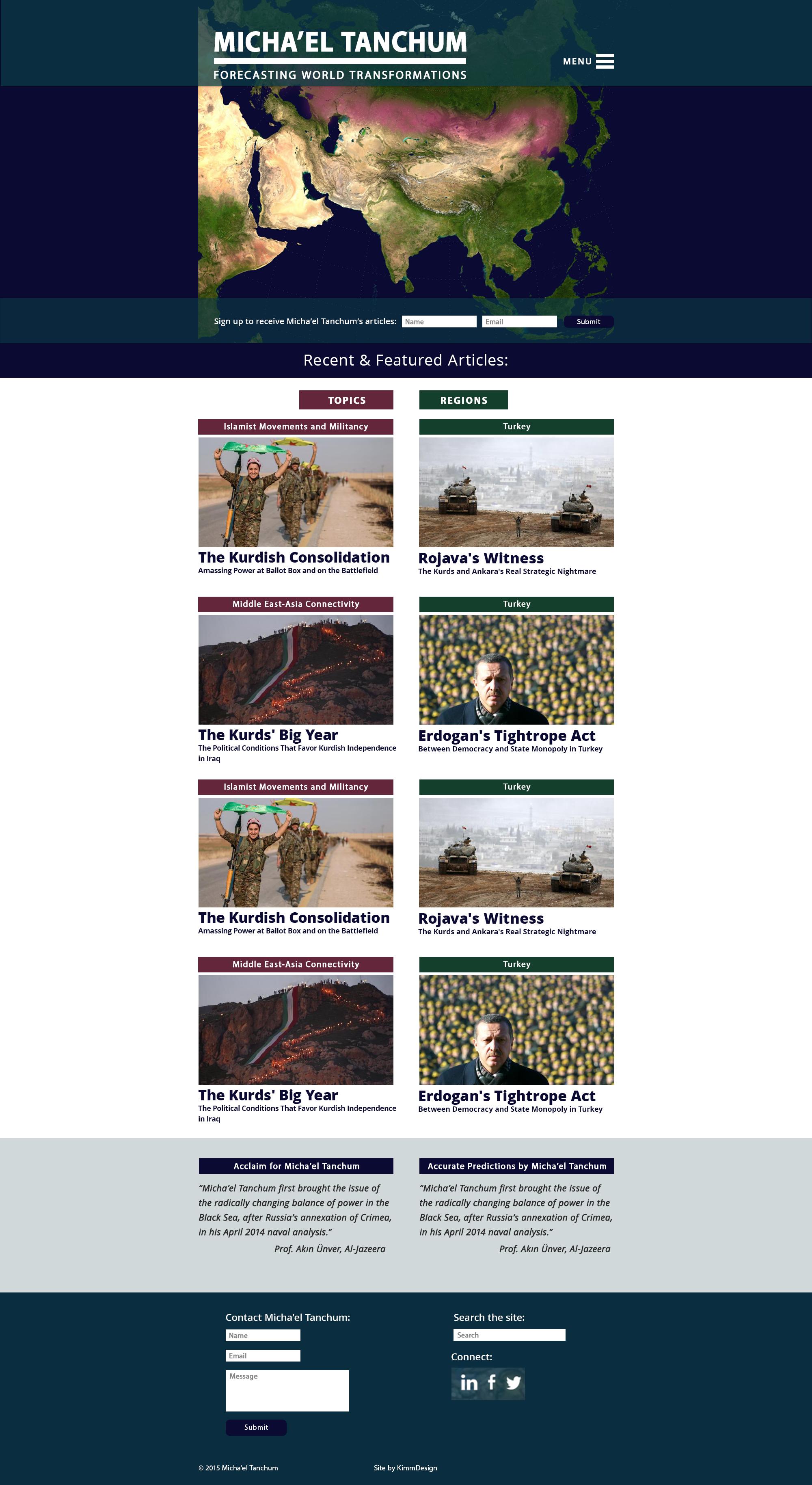 Micha'el Tanchum-image of home page design
